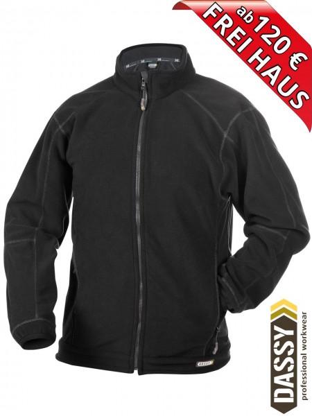 Fleecejacke einfarbig schwarz PENZA DASSY workwear Fleece 300219