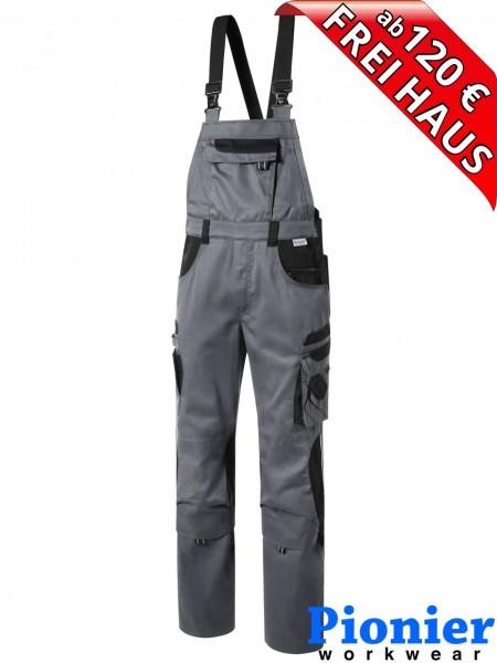 Latzhose TOOLS Pionier Workwear 5431 285 g/m² grau / schwarz
