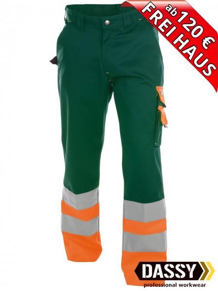 Warnschutz Bundhose Arbeitshose OMAHA DASSY 200620 grün/orange