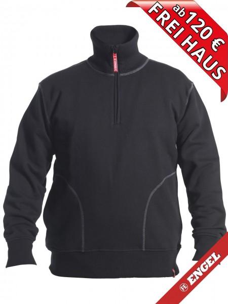 Zip Sweatshirt mit hohen Kragen Workwear Sweat FE ENGEL 8014-136 schwarz
