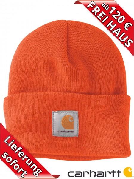 Carhartt Strickmütze Watch Hat Beanie Wintermütze Mütze A18 orange