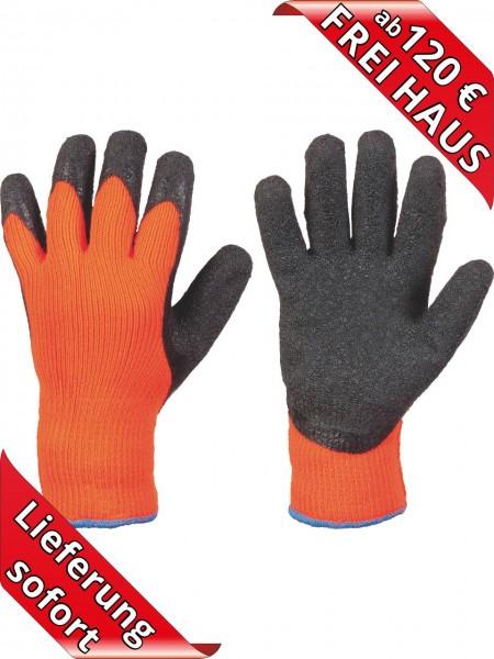 Latex Winter Arbeitshandschuhe RASMUSSEN 0240 Stronghand Handschuhe orange