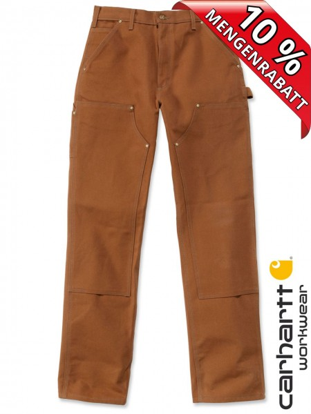 Carhartt B01 Firm Duck Double-Front Work Dungaree Arbeitshose Braun