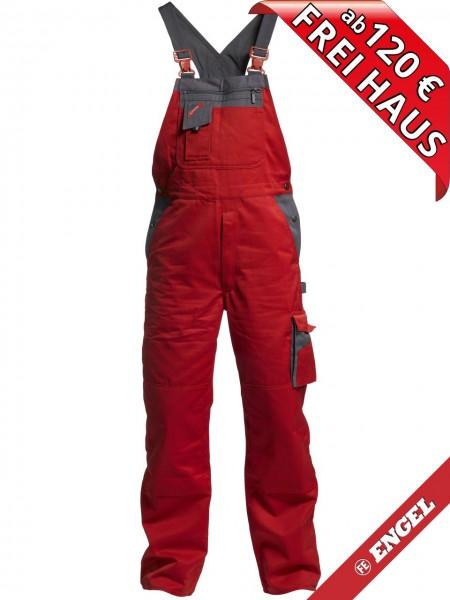 Latzhose Arbeitslatzhose Enterprise zweifarbig FE ENGEL 3600-785 rot