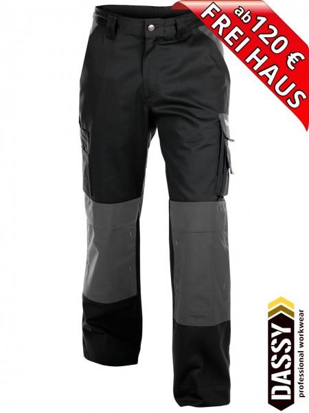 Arbeitshose Bundhose Hose zweifarbig schwarz grau BOSTON DASSY 200426