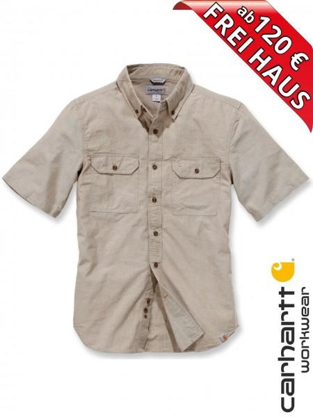 Carhartt Hemd kurzarm Fort Solid Short Sleeve Shirt S200 beige