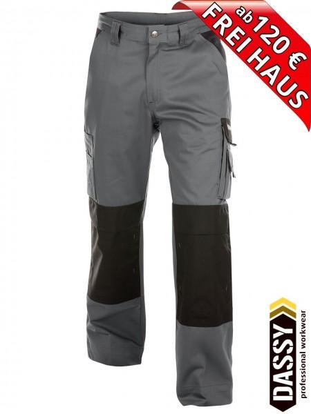 Arbeitshose Bundhose Hose zweifarbig grau schwarz BOSTON DASSY 200426