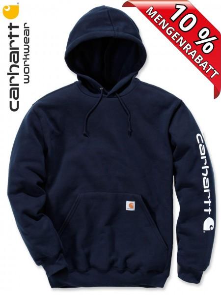 Carhartt Hooded Sweatshirt Kapuzenpulli Hoodie Shirt Druck K288 navy