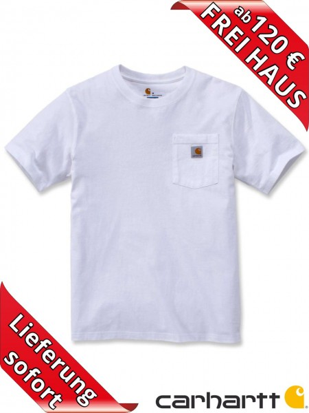 Carhartt schweres workwear T-Shirt Pocket Brusttasche 103296 weiss
