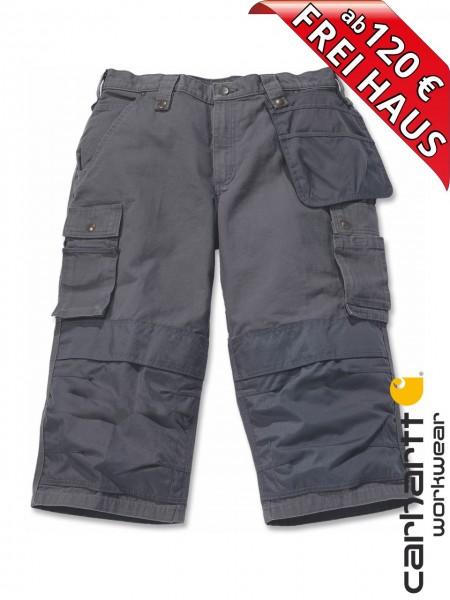 Carhartt Multi Pocket Ripstop Piratenhose 3/4 Arbeitshose 100455 grau