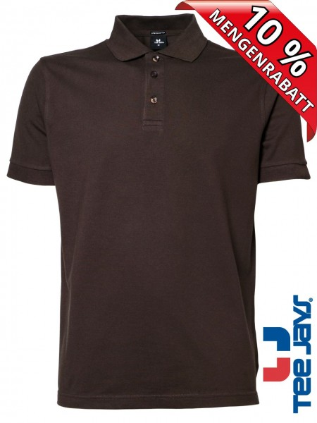 Stretch Herren Polo Shirt Deluxe 1405 Tee Jays braun