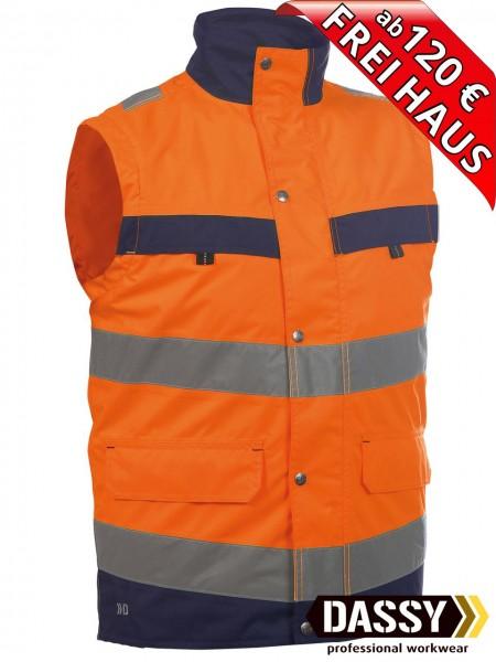 Warnschutz Weste Bodywarmer BILBAO DASSY 350100 orange/blau Innenweste