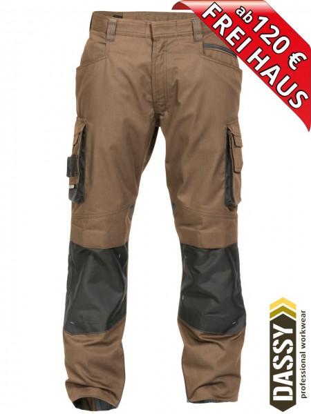 Arbeitshose Bundhose DASSY® Nova Kniepolster D-FX 200846 braun