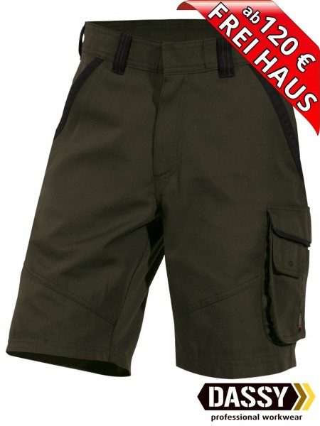 Short kurze Arbeitshose Canvas SMITH DASSY DNA 250044 Bundhose olive grün