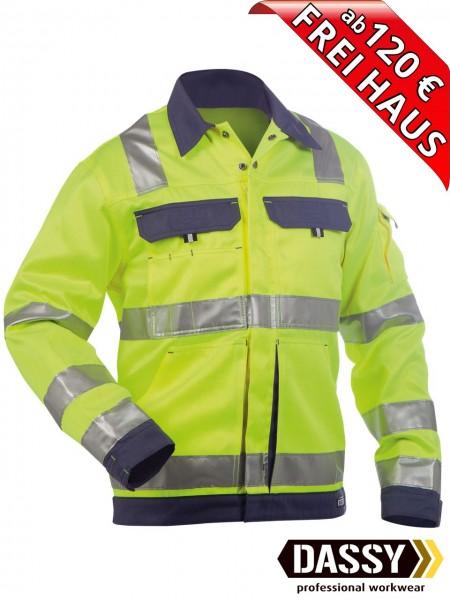 Warnschutz Arbeitsjacke Jacke DUSSELDORF DASSY 300184 gelb/blau