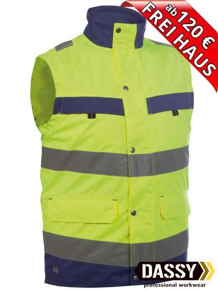 Warnschutz Weste Bodywarmer BILBAO DASSY 350100 gelb/blau Innenweste