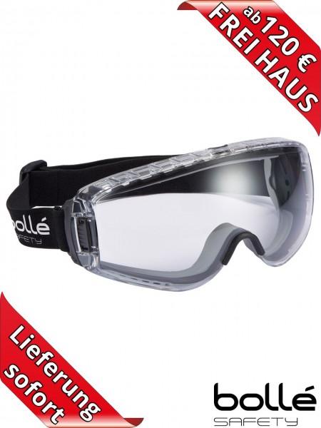 Bollé Safety Vollsichtschutzbrille PILOT belüftet PLATINUM Beschichtung