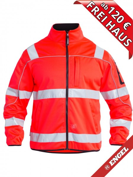 Warnschutz Softshelljacke Jacke EN ISO 20471 FE ENGEL 1153-237 rot