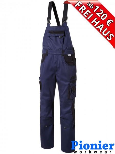 Latzhose TOOLS Pionier Workwear 5432 285 g/m² marine blau / schwarz