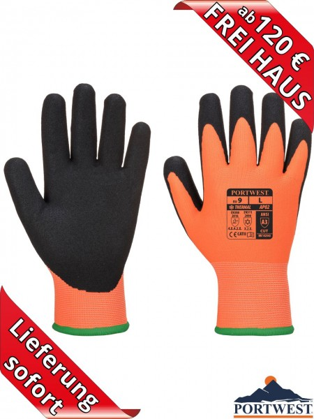 Nitril Winter Arbeitshandschuhe Portwest Thermo Pro Ultra GRIP NANO AP02