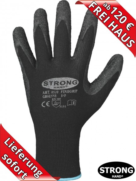 Latex Arbeitshandschuhe FINEGRIP 0520 Stronghand Handschuhe