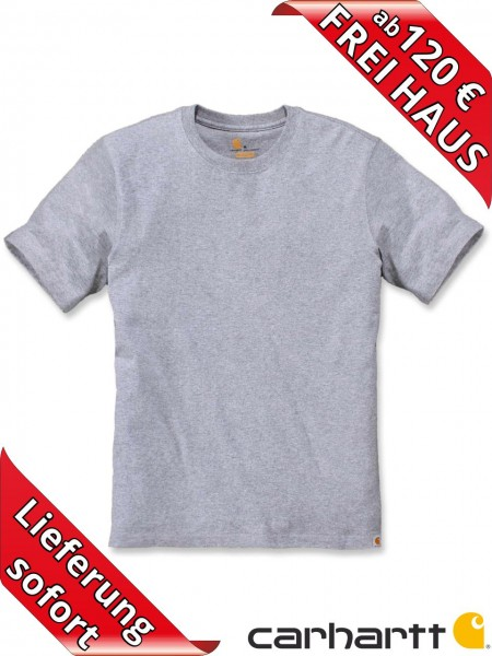 Carhartt schweres workwear T-Shirt Solid Baumwolle 104264 heather grey