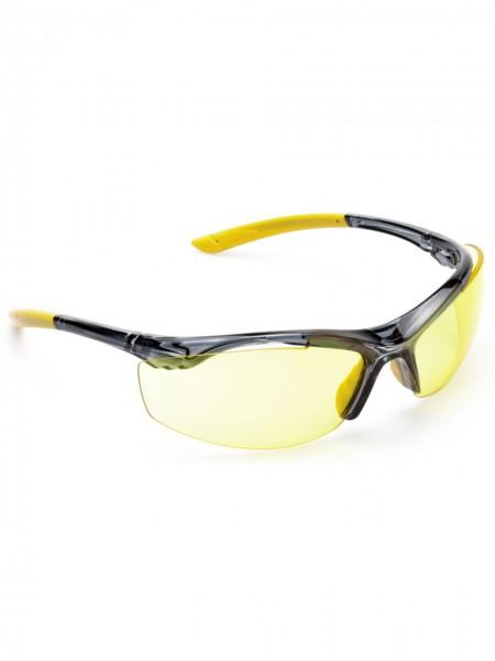 Schutzbrille sportliche Bügelbrille Scheibe gelb UNICO 2800