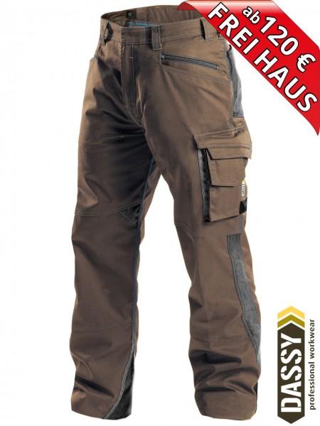 Arbeitshose Service Bundhose DASSY® Spectrum D-FX 200892 braun