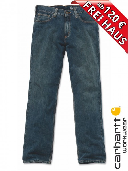 Carhartt Relaxed Straight Jeans Workwear Jeanshose B320 Blau