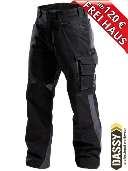 Arbeitshose Service Bundhose DASSY® Spectrum D-FX 200892 schwarz
