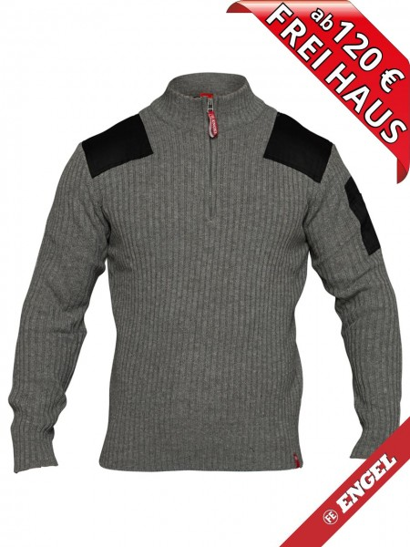 Strickpullover Pullover mit hohen Kragen COMBAT FE-ENGEL 8017-501 grau