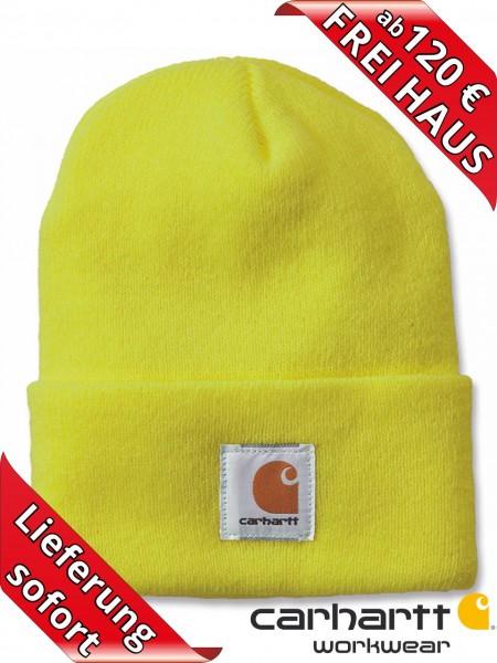 Carhartt Strickmütze Watch Hat Beanie Wintermütze Mütze A18 gelb