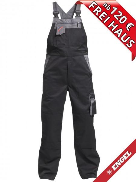 Latzhose Arbeitslatzhose Enterprise FE ENGEL 3600-785 schwarz grau