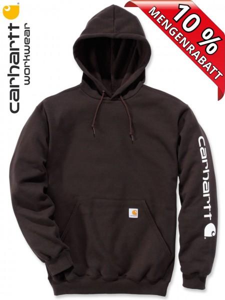 Carhartt Hooded Sweatshirt Kapuzenpulli Hoodie Shirt Druck K288 dunkelbraun