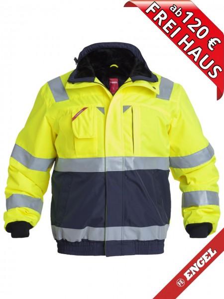 Warnschutz Winter Pilotjacke Jacke EN ISO FE ENGEL 1172-928 gelb marine