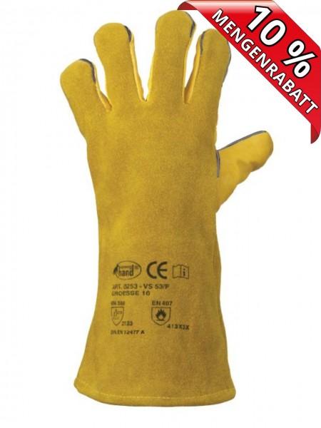Rindleder Handschuhe Schweißer Lederhanschuhe VS 53/F Stronghand 0258