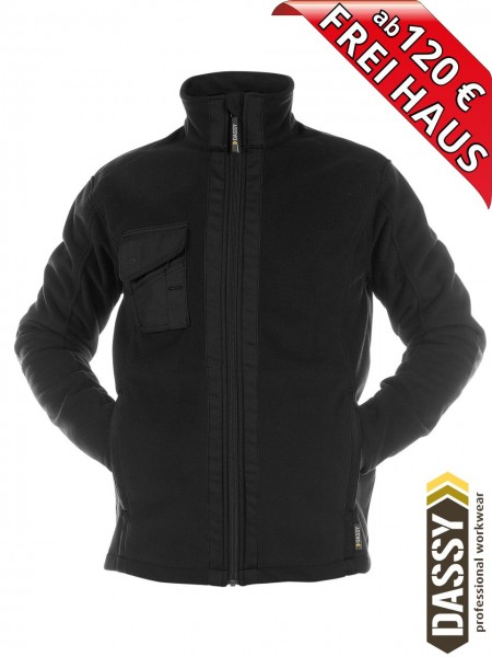 Fleecejacke wasserdicht winddicht CROFT schwarz DASSY DNA Jacke 300319