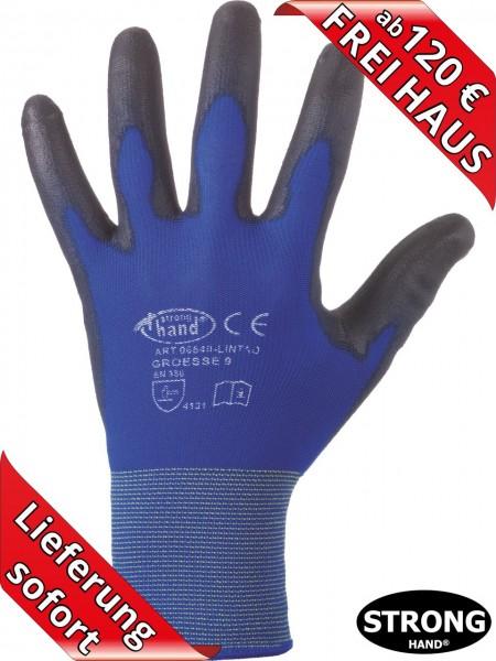 PU Feinstrick Arbeitshandschuhe LINTAO 0720 Stronghand Handschuhe blau