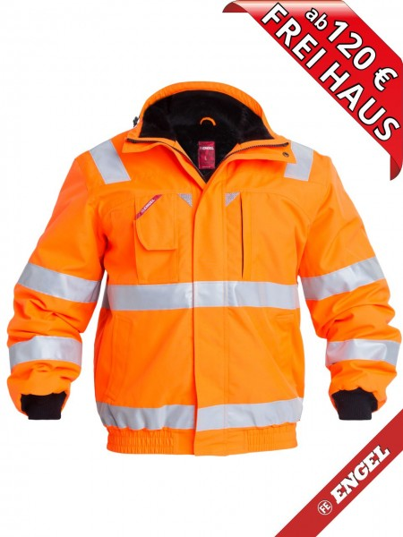 Warnschutz Winter Pilotjacke Jacke EN ISO 20471 FE ENGEL 1172-928 orange