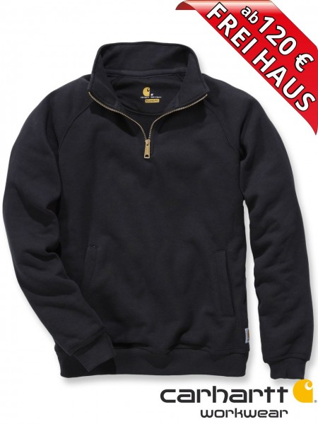 Carhartt Zip Sweatshirt Quarter Mock Neck Sweat Shirt K503 schwarz