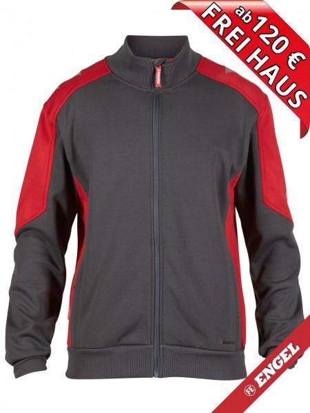 Sweat Jacke Cardigan Sweatshirtjacke GALAXY 8830-233 FE ENGEL grau rot