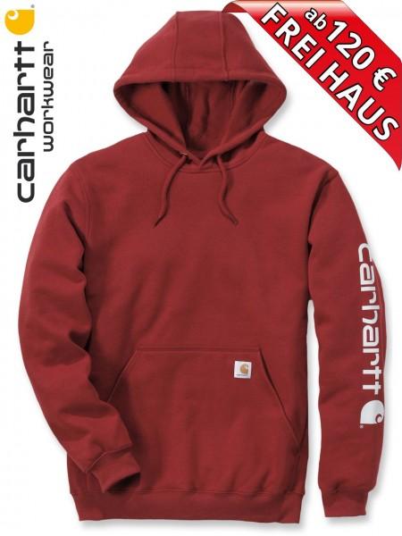 Carhartt Hooded Sweatshirt Kapuzenpulli Hoodie Shirt Druck K288 dunkel rot