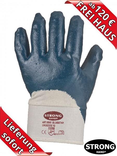 Nitril Arbeitshandschuh Stulpe BLUESTAR 0563 Stronghand teilbeschichtet