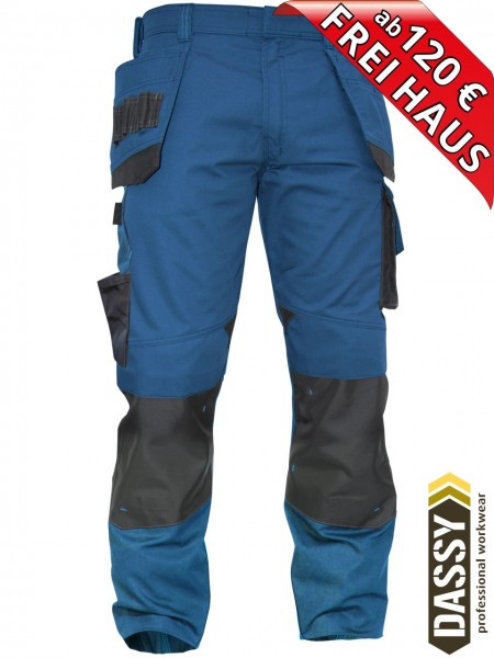 Arbeitshose Multitaschen Bundhose DASSY® MAGNETIC D-FX 200908 azurblau