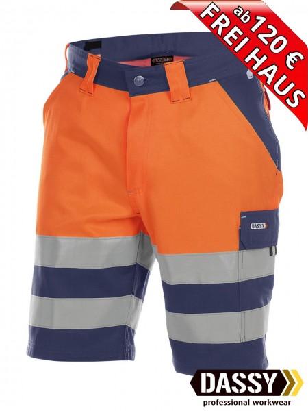 Warnschutz Short kurze Arbeitshose Hose VENNA DASSY 250030 orange/blau