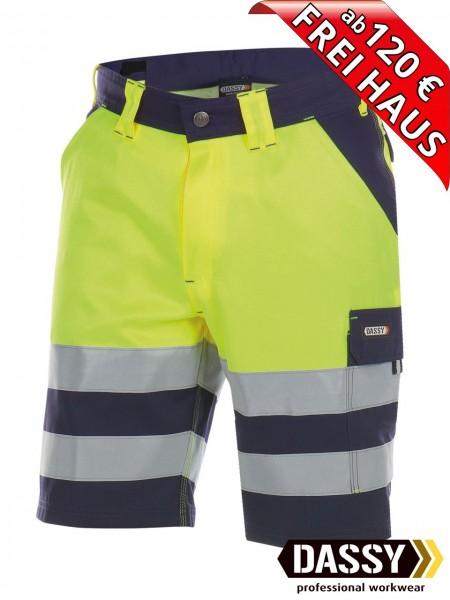 Warnschutz Short kurze Arbeitshose Hose VENNA DASSY 250030 gelb/blau