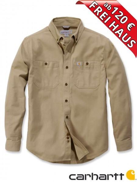 Carhartt Stretch Hemd langarm Rugged Flex Work Shirt 103554 khaki beige