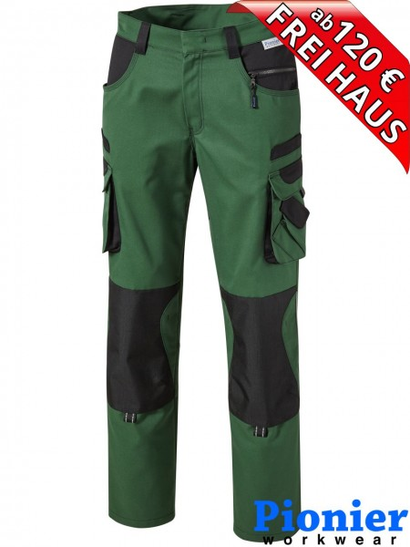 Bundhose Arbeitshose grün / schwarz TOOLS PLUS Pionier Workwear 15347
