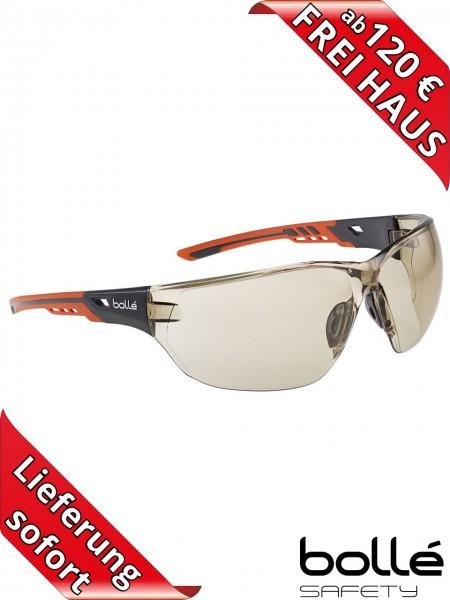 Bollé Safety Schutzbrille NESS+ CSP NESSPCSP PLATINUM Beschichtung orange