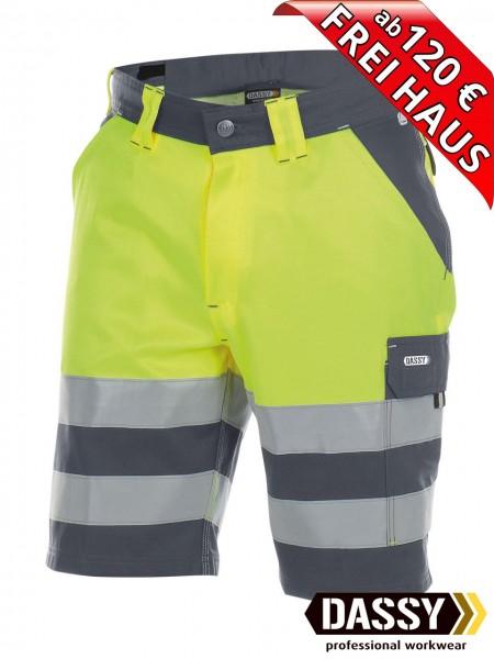 Warnschutz Short kurze Arbeitshose Hose VENNA DASSY 250030 gelb/grau
